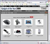 クリックするとGadget of the Year 2006のページへ