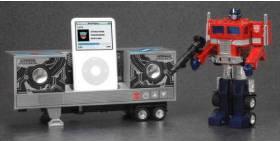 TRANSFORMERS MUSIC LABEL OPTIMUSPRIME speakers