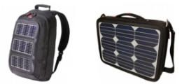 ソーラー充電器搭載バッグ