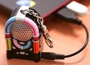 ミニジュークボックスキーリングMP3スピーカー