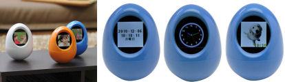 タマゴ型デジタルフォトフレーム400-DFF005