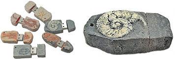 化石風デザイン USBメモリ