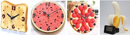 食品サンプル時計