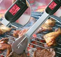 Digital Meat Thermometer Barbecue Tongs with Flashlight
