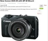 EOS M(Canon Rumorsより)