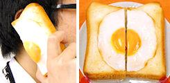 目玉焼きパン食品サンプルカバー