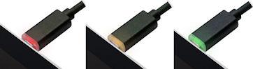 パワーが見える充電・通信対応microUSBケーブル