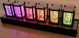 DIYニキシー管風 RGB LED組み立て式置き時計キット