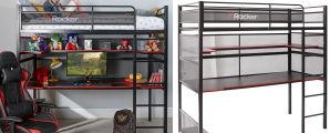 BattleBunk Metal Bunk Bed with Desk